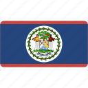belize, country, flag, flags, national, rectangle, rectangular, world icon