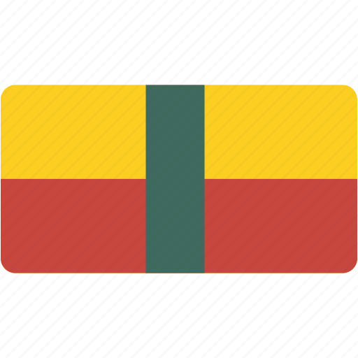 benin, country, flag, flags, national, rectangle, rectangular, world icon