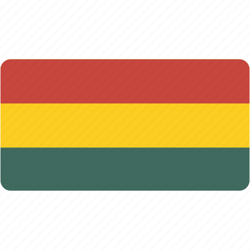 bolivia, country, flag, flags, national, rectangle, rectangular, world icon