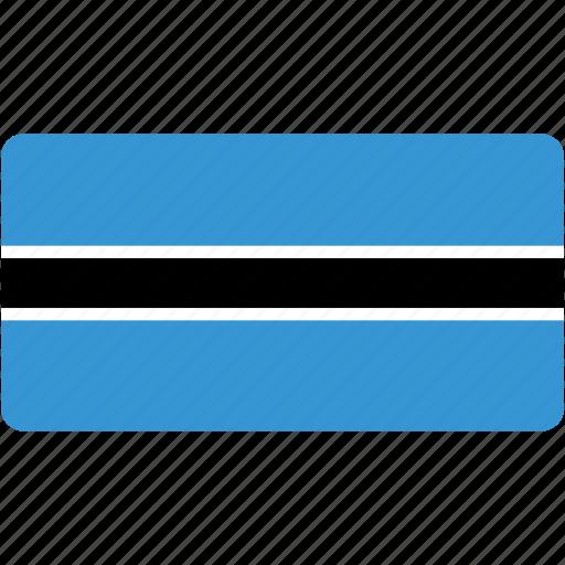 botswana, country, flag, flags, national, rectangle, rectangular, world icon
