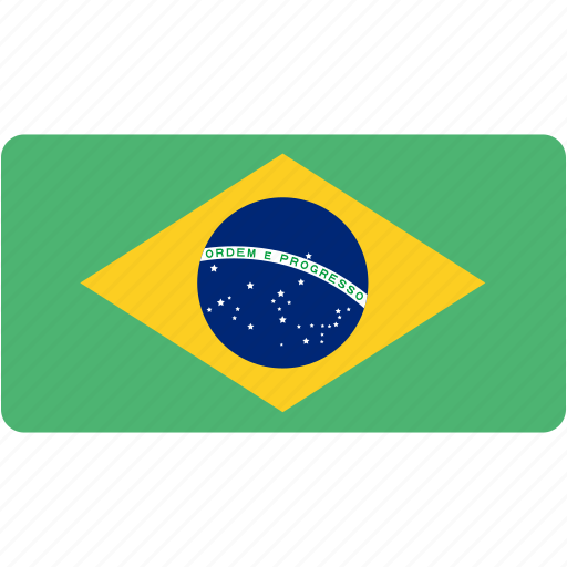 brazil, country, flag, flags, national, rectangle, rectangular, world icon