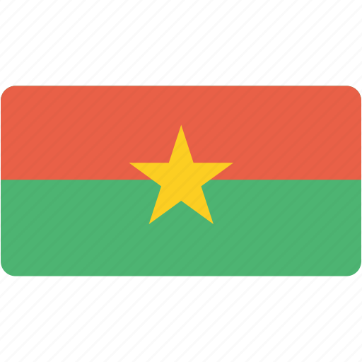 burkina, country, faso, flag, flags, national, rectangle, rectangular, world icon