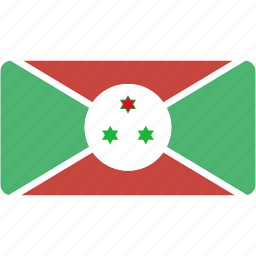 burundi, country, flag, flags, national, rectangle, rectangular, world icon