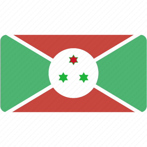 burundi, country, flag, flags, national, rectangle, rectangular, world icon