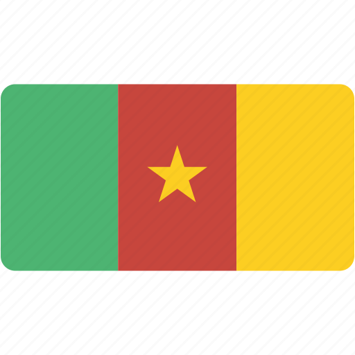 cameroon, country, flag, flags, national, rectangle, rectangular, world icon