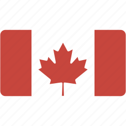 canada, country, flag, flags, national, rectangular, world icon