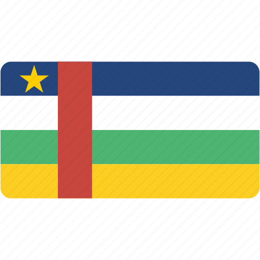 african, central, country, flag, flags, national, rectangle, rectangular, republic, world icon