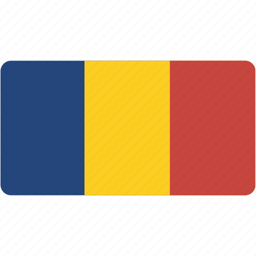 chad, country, flag, flags, national, rectangle, rectangular, world icon