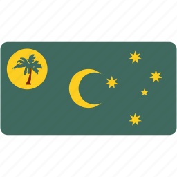 cocos, country, flag, flags, national, rectangle, rectangular, world icon