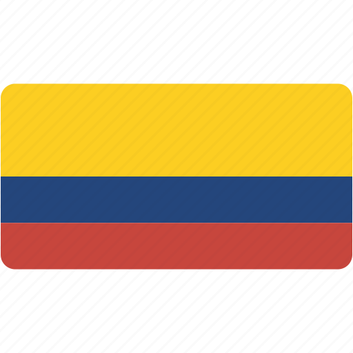 colombia, country, flag, flags, national, rectangle, rectangular, world icon