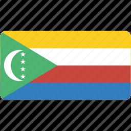 comoros, country, flag, flags, national, rectangle, rectangular, world icon