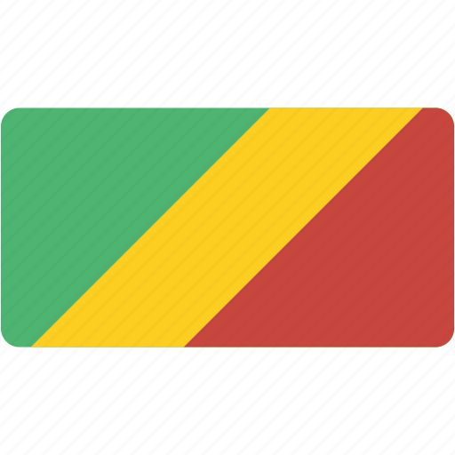 congo, country, flag, flags, national, rectangle, rectangular, world icon