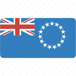cook, country, flag, flags, islands, national, rectangle, rectangular, world icon