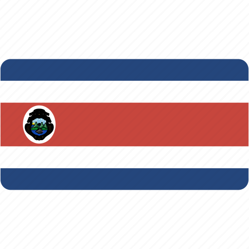 costa, country, flag, flags, national, rectangle, rectangular, rica, world icon