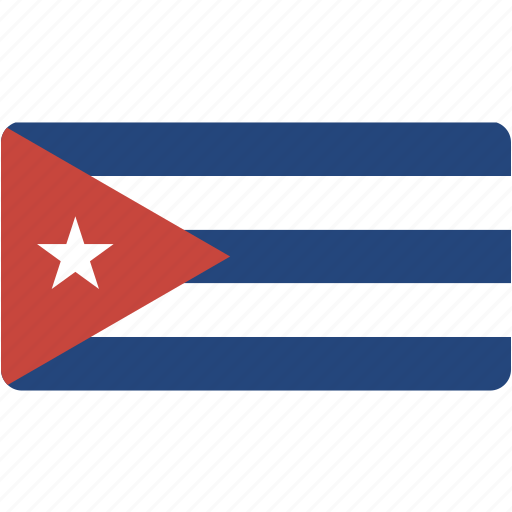 country, cuba, flag, flags, national, rectangle, rectangular, world icon