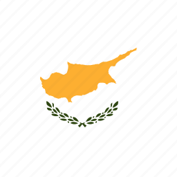 country, cyprus, flag, flags, national, rectangle, rectangular, world icon