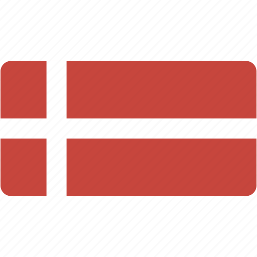 country, denmark, flag, flags, national, rectangle, rectangular, world icon