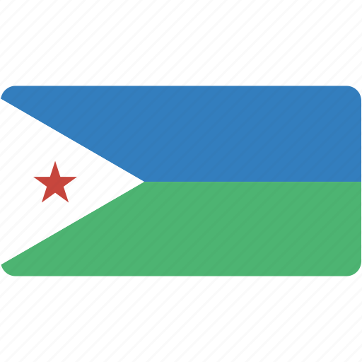 country, djibouti, flag, flags, national, rectangle, rectangular, world icon