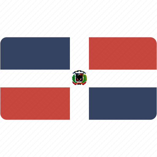 country, dominican, flag, national, rectangle, rectangular, republic, world icon