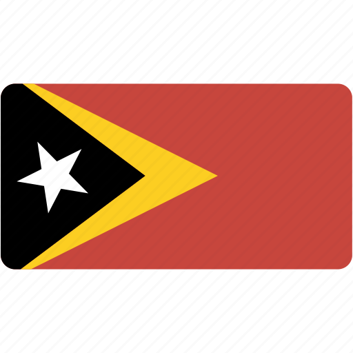 country, east, flag, flags, national, rectangle, rectangular, timor, world icon