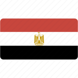 country, egypt, flag, flags, national, rectangle, rectangular, world icon