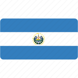 country, el, flag, flags, national, rectangle, rectangular, salvador icon