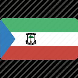 country, equatorial, flag, flags, guinea, national, rectangle, rectangular, world icon