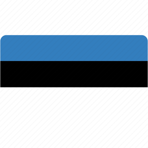country, estonia, flag, flags, national, rectangle, rectangular, world icon