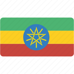 country, ethiopia, flag, flags, national, rectangle, rectangular, world icon