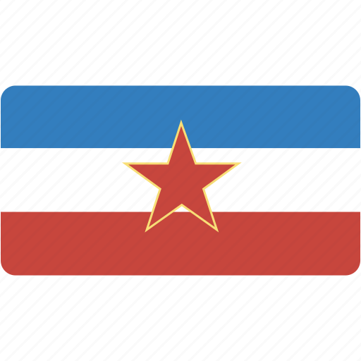 country, ex, flag, flags, national, rectangle, rectangular, world, yugoslavia icon