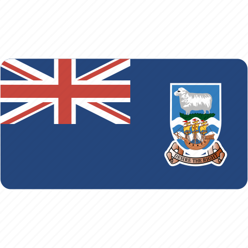 country, falkland, flag, flags, islands, national, rectangle, rectangular, world icon