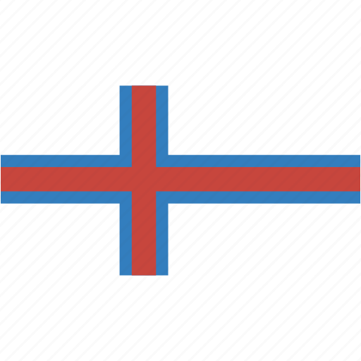 country, faroe, flag, flags, islands, national, rectangle, rectangular, world icon