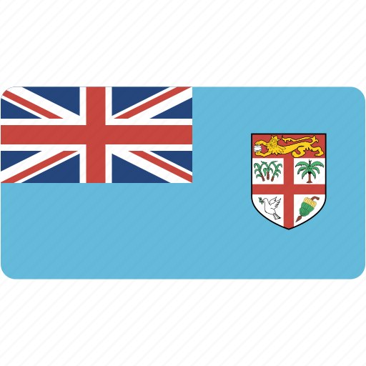 country, fiji, flag, flags, national, rectangle, rectangular, world icon
