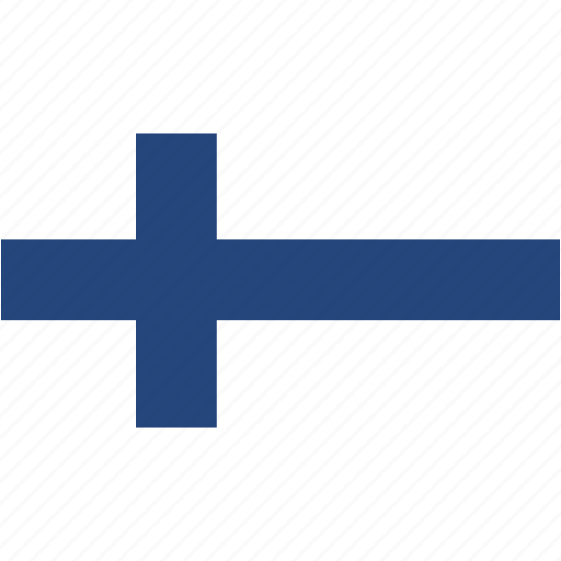 country, finland, flag, flags, national, rectangle, rectangular, world icon