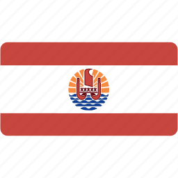 country, flag, flags, french, national, polynesia, rectangle, rectangular, world icon