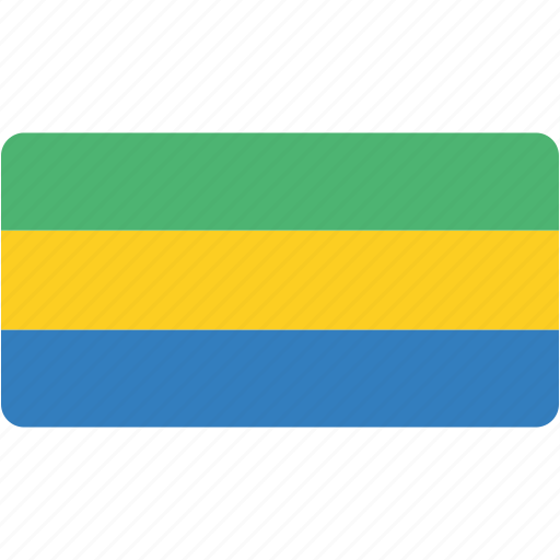country, flag, flags, gabon, national, rectangle, rectangular, world icon