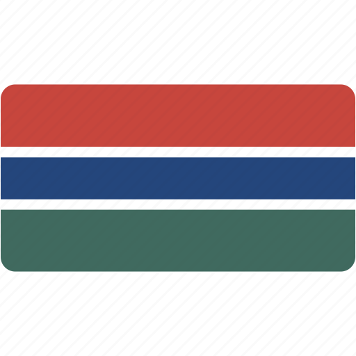 country, flag, flags, gambia, national, rectangle, rectangular, world icon