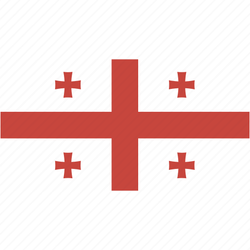 country, flag, flags, georgia, national, rectangle, rectangular, world icon
