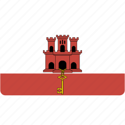 country, flag, flags, gibraltar, national, rectangular, world icon