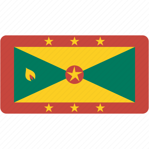 country, flag, flags, grenada, national, rectangle, rectangular, world icon