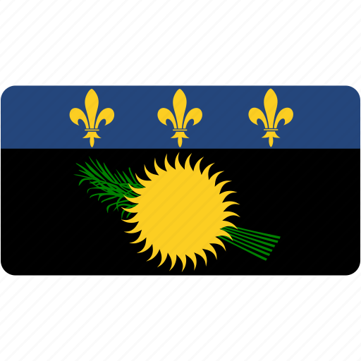 country, flag, flags, guadeloupe, national, rectangle, rectangular, world icon