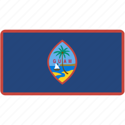 country, flag, flags, guam, national, rectangle, rectangular, world icon