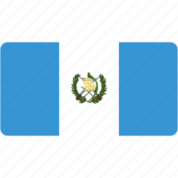 country, flag, flags, guatemala, national, rectangle, rectangular, world icon