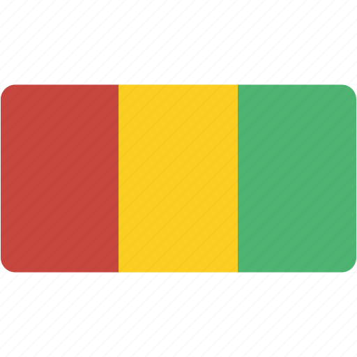country, flag, flags, guinea, national, rectangle, rectangular, world icon