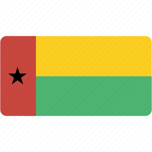 bissau, country, flag, flags, guinea, national, rectangle, rectangular, world icon