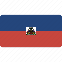country, flag, flags, haiti, national, rectangle, rectangular, world icon