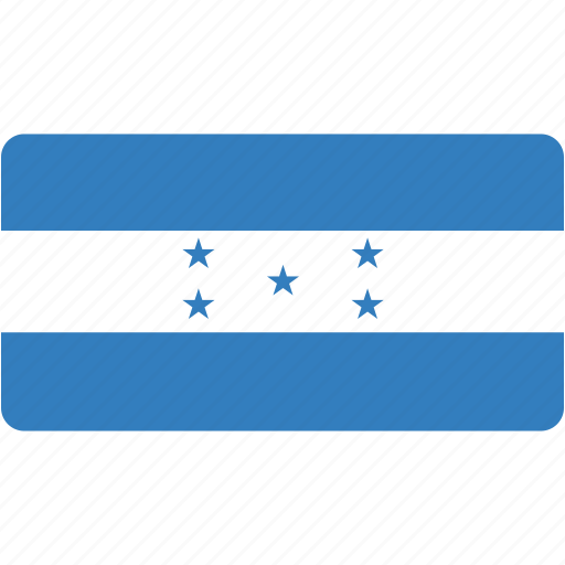 country, flag, flags, honduras, national, rectangle, rectangular, world icon