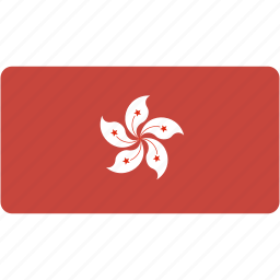 country, flag, flags, hong, kong, national, rectangle, rectangular, world icon