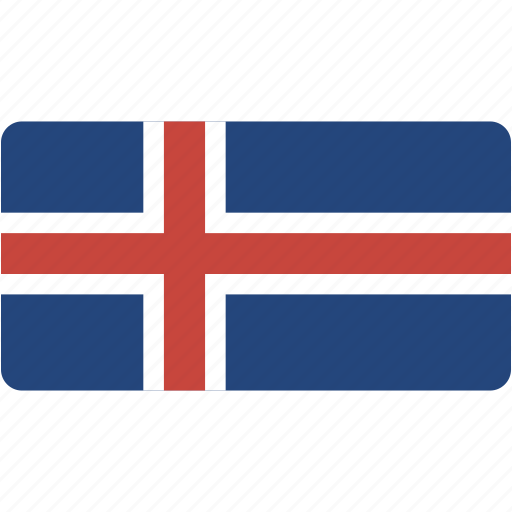 country, flag, flags, iceland, national, rectangular, world icon