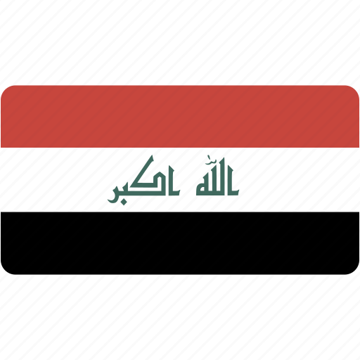 country, flag, flags, iraq, national, rectangle, rectangular, world icon